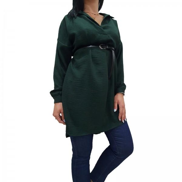 Πουκαμίσα/μπλουζοφόρεμα σε σταθερό ύφασμα14-19ΚΛ