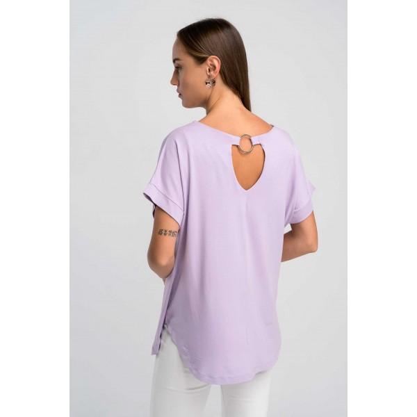 Μπλούζα σε ελαστικό βισκόζ ύφασμα 092Λ