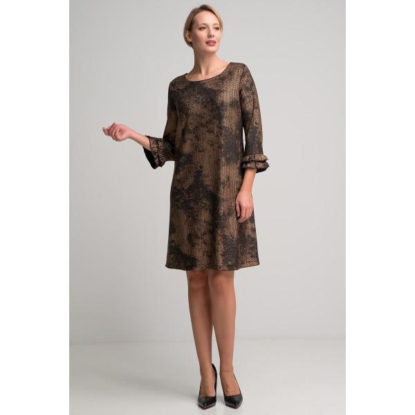 Εντυπωσιακό φόρεμα σε ίσια γραμμή και ελαστικό ύφασμα3053-Β