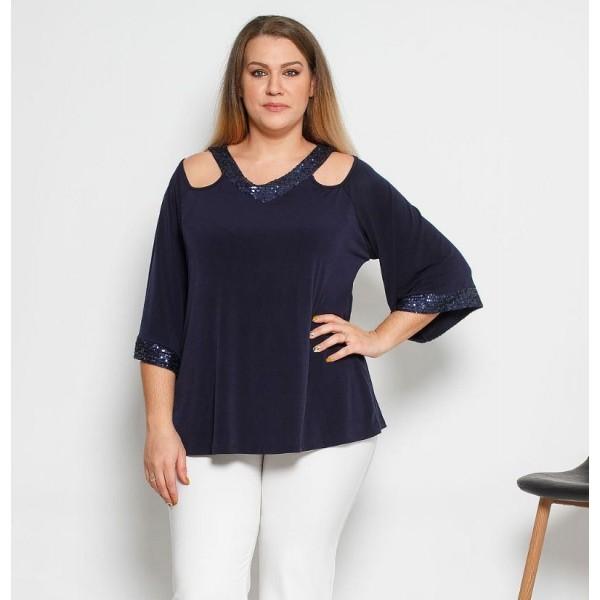 Μπλούζα Jersey ελαστική με Ve παγιέτα 3681Β