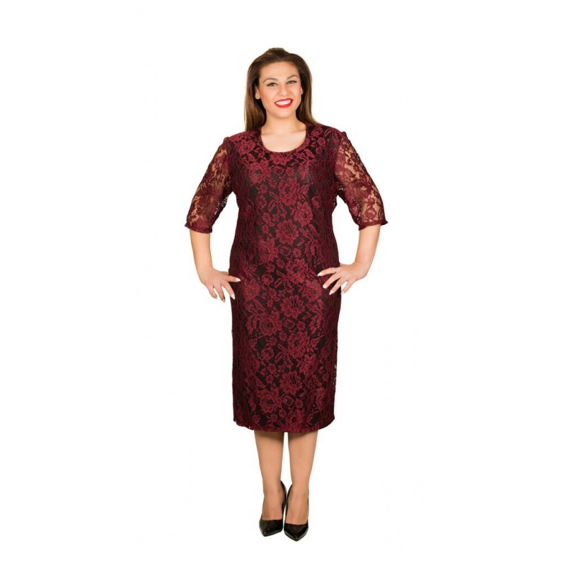 cce952acb3af Φόρεμα σε ίσια γραμμή δαντέλα ύφασμα