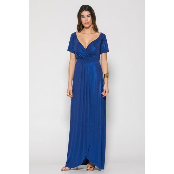 f6d5efe05aa3 Εντυπωσιακό φόρεμα maxi σε ελαστικό ζέρσεϊ ύφασμα