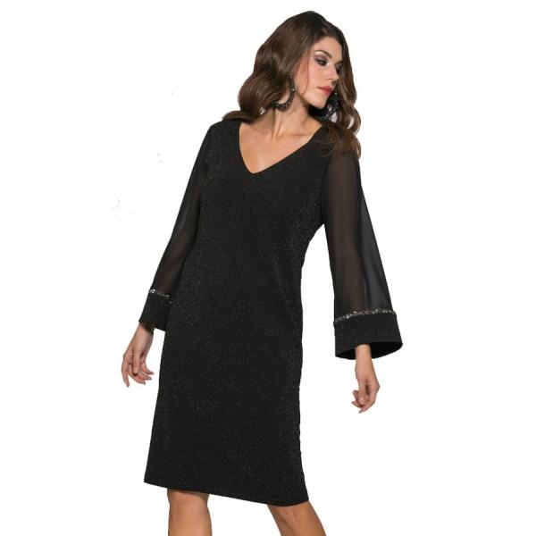 Midi φόρεμα σε ίσια γραμμή. 6d85969c45c