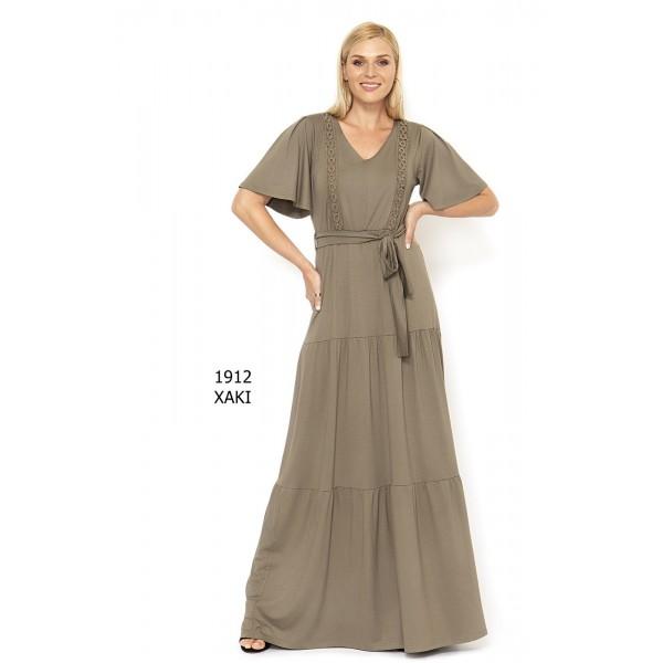 Ανάλαφρο φόρεμα maxi  σε ελαστικό βισκόζ ύφασμα 1912Χ